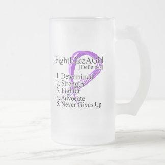 Lucha como una definición del chica - cáncer pancr taza