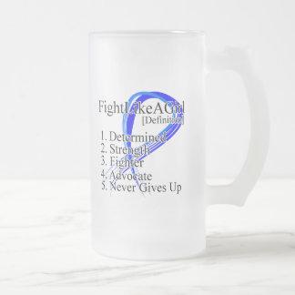 Lucha como una definición del chica - cáncer recta taza