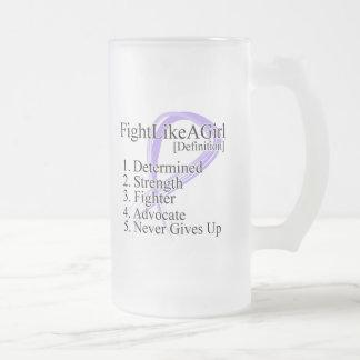 Lucha como una definición del chica - cáncer taza