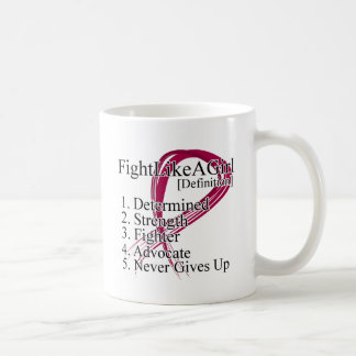 Lucha como una definición del chica - mieloma múlt tazas de café
