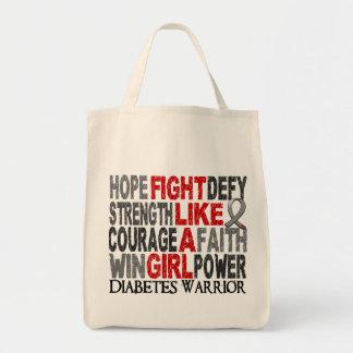 Lucha como una diabetes 23 4 del chica bolsas de mano