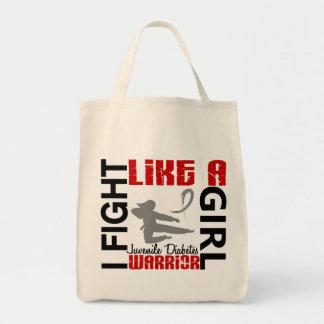 Lucha como una diabetes juvenil 3 2 del chica bolsas de mano