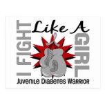 Lucha como una diabetes juvenil 8,2 del chica tarjeta postal