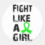 Lucha como una distrofia muscular 21,8 del chica etiquetas redondas