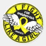 Lucha como una endometriosis 16,5 del chica pegatina