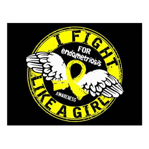 Lucha como una endometriosis 16,5 del chica postal