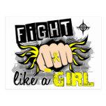 Lucha como una endometriosis 27,8 del chica tarjetas postales