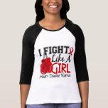 Lucha como una enfermedad cardíaca del chica 15,2 camiseta