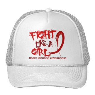 Lucha como una enfermedad cardíaca del chica 5,3 gorras