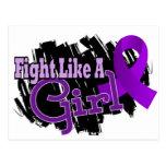 Lucha como una enfermedad de Crohn del chica 17,8 Tarjetas Postales