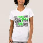 Lucha como una enfermedad de Lyme del chica 23,4 Camisetas