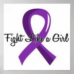 Lucha como una epilepsia 41,8 del chica posters