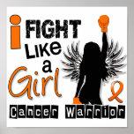 Lucha como una leucemia 26,2 del chica impresiones