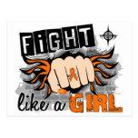 Lucha como una leucemia 27,8 del chica postales