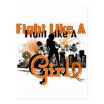 Lucha como una leucemia 30,8 del chica tarjeta postal