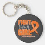 Lucha como una leucemia apenada chica llaveros personalizados