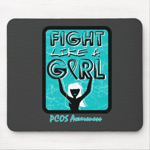 Lucha como una muestra PCOS del lema del chica Alfombrilla De Ratones