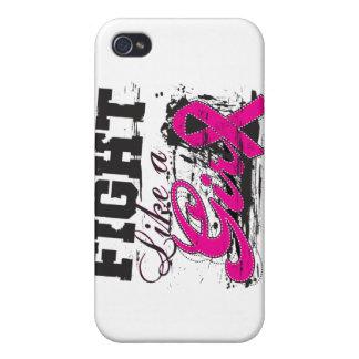 Lucha como una pintura de aerosol del chica - cánc iPhone 4 cárcasas
