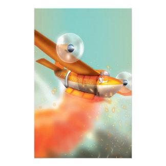 Lucha contra el fuego aérea del fuego-avión del  papeleria de diseño