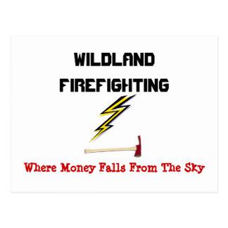 Lucha contra el fuego del yermo postal