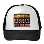 Lucha contra socialismo gorras de camionero