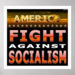 Lucha contra socialismo poster