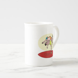 Lucha de 3 taza de porcelana