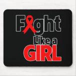 Lucha de AIDS/HIV como un chica Tapetes De Ratones