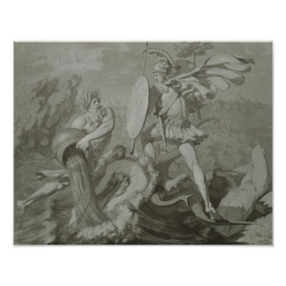Lucha de Aquiles con el río Scamander Impresiones