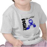 Lucha de Blue Ribbon como un chica Camisetas