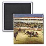 Lucha de Bull, 1865 Iman Para Frigorífico