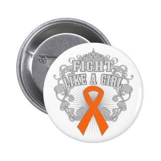 Lucha de COPD como un chica Fleurish 2 Pin