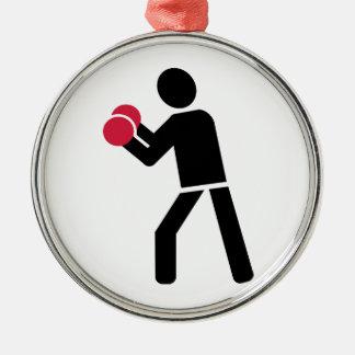 Lucha de encajonamiento ornamento para arbol de navidad