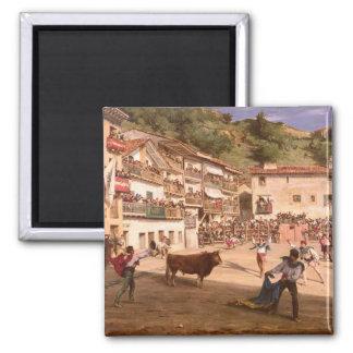 Lucha de entrenamiento en Vizcaya, 1869 Imán Cuadrado