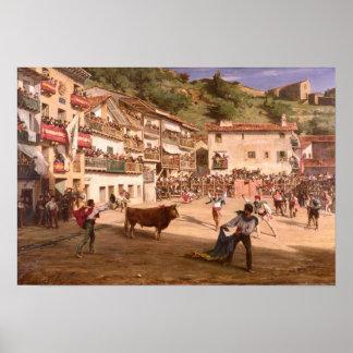 Lucha de entrenamiento en Vizcaya, 1869 Póster