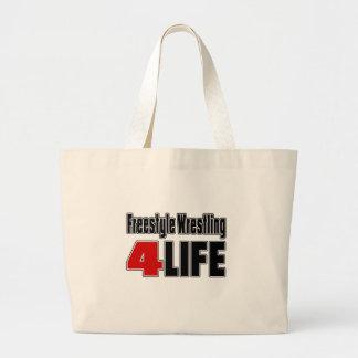 Lucha de estilo libre para la vida bolsa tela grande