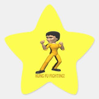 Lucha de Kung Fu Etiqueta