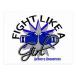 Lucha de la artritis como un chica 12,3 postales
