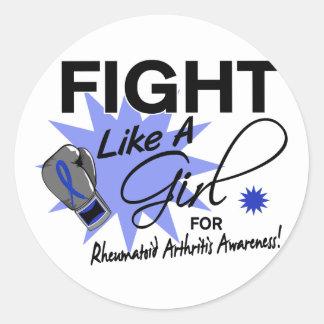 Lucha de la artritis reumatoide como un chica 11 3 pegatinas