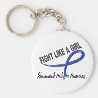 Lucha de la artritis reumatoide como un chica 7 3 llavero