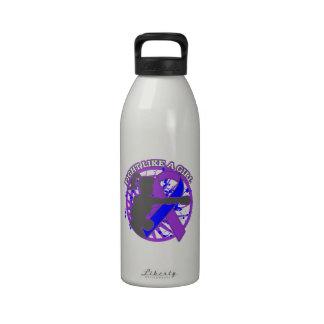 Lucha de la artritis reumatoide como una actitud d botella de agua reutilizable