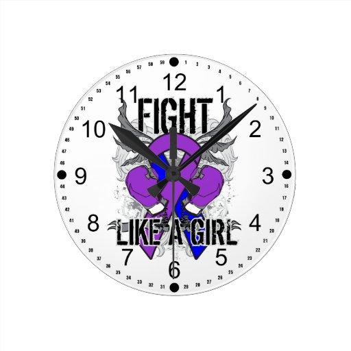 Lucha de la artritis reumatoide ultra como un chic reloj redondo mediano