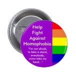 Lucha de la ayuda contra homofobia pin
