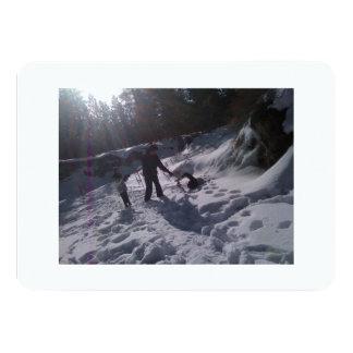 Lucha de la bola de nieve invitación 11,4 x 15,8 cm