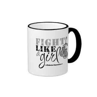 Lucha de la conciencia de la diabetes como un chic taza de café