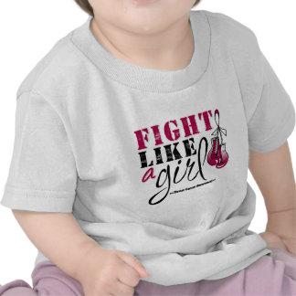 Lucha de la conciencia del cáncer de garganta como camiseta