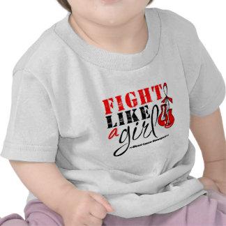 Lucha de la conciencia del cáncer de sangre como camisetas