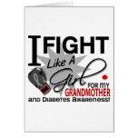 Lucha de la diabetes como una abuela 11 del chica felicitacion