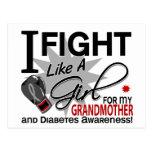 Lucha de la diabetes como una abuela 11 del chica tarjeta postal