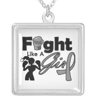 Lucha de la diabetes como una silueta del chica collar personalizado